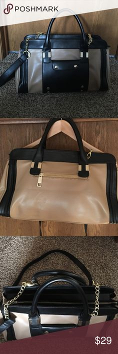 """LIONEL VEGAN LEATHER SATCHEL Like new condition Perfect Condition,A roomy ,zip -top interior secures your on-the -go essentials,while a removable crossbody strap allows for optional hands free carrying.Interior one zip and two slip pockets . Exterior one slip and one zip pocket                      10""""H.-W 15"""".-6,5 D. LIONEL Bags"""