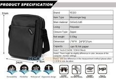 YESO Brand Men Business Messenger Bag Famous Brand Waterproof Oxford Casual Cross Body Bags Mens Simple Shoulder Bags Black   Read more at Bargain Paradise : http://www.nboempire.com/products/yeso-brand-men-business-messenger-bag-famous-brand-waterproof-oxford-casual-cross-body-bags-mens-simple-shoulder-bags-black/