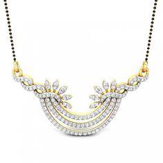Pamela Mangalsutra Pendant Ankle Jewelry, Cute Jewelry, Diamond Mangalsutra, Bollywood Jewelry, Golden Jewelry, Diamond Pendant, Diamond Jewelry, Indian Jewelry, Wedding Jewelry