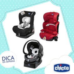 Nossa dica da semana são conselhos para segurança no automóvel. Acesse: http://babycarsafety.chicco.com/br/home.asp