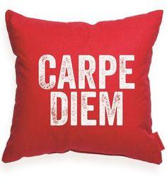 """Carpe Diem"" Decorative Throw Pillow"