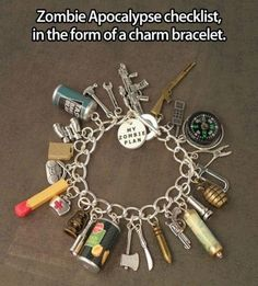 ZOMBIE pokyclypse charm bracelet.....want to make a WALKING DEAD one for Ron's next b'day!!!!!!  TOO cute.