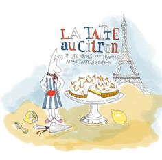 Yvette van Boven, the brilliant cook and her tarte au citron. I can smell paris from here!