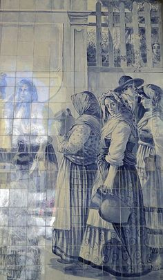 Estação São Bento - Azulejo (moças 3).