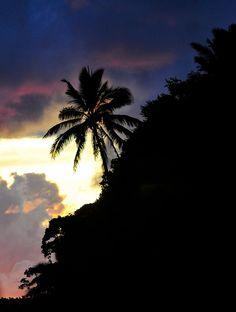 Sunset on the Medical Site in Tuaekivale, Tonga.