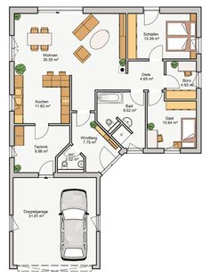 Modern House Plans, Small House Plans, Tiny House, Building A House, Sweet Home, Floor Plans, Home And Garden, Loft, House Design