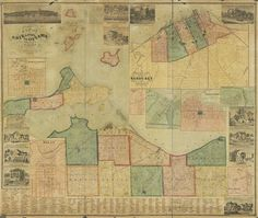 Graveyard Rabbit of Sandusky Bay: 1863 Map of Erie and Ottawa Counties in Ohio from Surveys by Philip Nunan