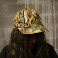Vintage Tropical Jungle Camo Palm Tree Pattern Strapback Five Panel Hat Five Panel Hat, Cool Hats, Snapback Hats, A Boutique, Palm Trees, Camo, Vintage Items, Archive, Tropical