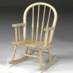 Shop now for our Child's Windsor Rocker. Our child's Windsor rocking chair is crafted from solid unfinished Parawood hardwood. Sold as a 2 pack. Playroom Furniture, Living Furniture, Unfinished Wood Chairs, Loft Bed Frame, Quilt Ladder, Rocking Chair Nursery, Bar Stool Chairs, Cheap Chairs, Concept Home