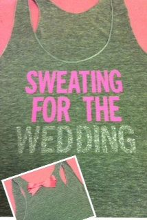 Sweating for the Wedding in GRAY Work-out Tank Top. /via Etsy.