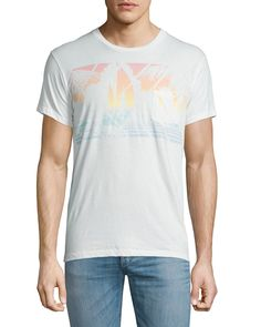 Mystic Sail Graphic Short-Sleeve Tee, White - Sol Angeles