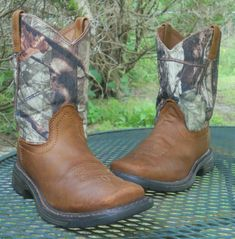 Smoky Mountain Kids Jesse Sq Toe Boots 11C White