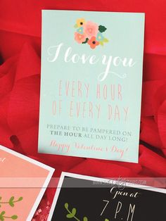 Valentine's Day Card AND Gifts by the Hour