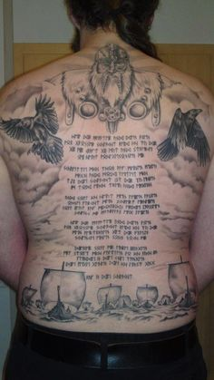 41c32dd9ecfa1 Hail Odin Seriously that is one hell of a back piece! Exceptional! Norse  Tattoo