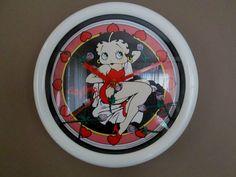 "NWOT BETTY BOOP WALL CLOCK -""Bed of Roses""- Item #10324 - In Original Packaging! $16.99"