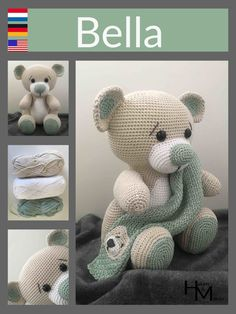 A free Dutch crochet pattern from Bear Bella. Do you want to crochet Beer Bella too? - A free Dutch crochet pattern from Bear Bella. Do you want to crochet Beer Bella too? Crochet Bear Patterns, Amigurumi Patterns, Crochet Animals, Crochet Teddy, Cute Crochet, Crochet Dolls, How To Start Knitting, Stuffed Animal Patterns, Crochet Projects