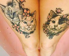 15 Of The Best Cat Tattoo Ideas Ever Cat tattoo Cat tattoo – Top Fashion Tattoos Cat Portrait Tattoos, Dog Tattoos, Animal Tattoos, Body Art Tattoos, Sleeve Tattoos, Tattoo Hip, Samoan Tattoo, Polynesian Tattoos, Grey Tattoo