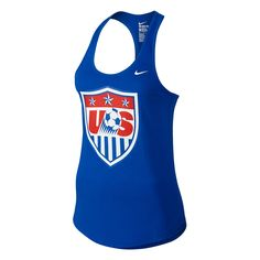 Women can stay comfortable in the Nike USA Core Plus Women's Tank Top while the cheer on the USWNT during this summer's Women's World Cup. Get all your US Soccer jerseys and gear today at SoccerCorner.com  http://www.soccercorner.com/Nike-USA-Core-Plus-Women-s-Tank-Top-Royal-p/ttwni726584-480.htm