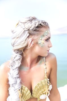 Mermaid makeup and costume idea #mermaidmakeup #mermaidcostume #halloweencostume
