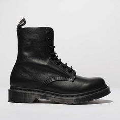 ba49cd48bb4632 womens black dr martens 1460 pascal mono boots