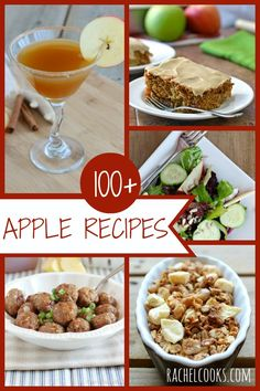Over 100 great apple recipes on Rachel Cooks | www.rachelcooks.com