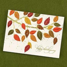 Carlson Craft YMM0347 Change of Hues Thanksgiving Card #Thanksgiving
