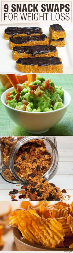 No matter where you are on your weight loss journey, one of the simplest changes is to mix up the snack menu. Try these 9 Snack Swaps for Weight Loss!  #weightloss #healthysnacks #cleaneatingsnacks