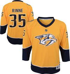 NHL Youth Nashville Predators Pekka Rinne  35 Replica Home Jersey 9d2fe3538