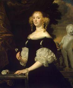 Portrait of a Lady in Black, 1670 (Holland, Abraham van den Tempel)