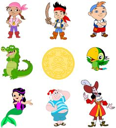 Jake and the Neverland Pirates SVG, INSTANT Download, Printable Decals for Cricut and Silhouette by bulgraphics on Etsy