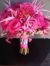 Hot Pink and Feather Bouquet