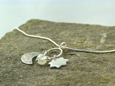 silver moon and star necklace €45 by LaPetiteMaisonBijoux