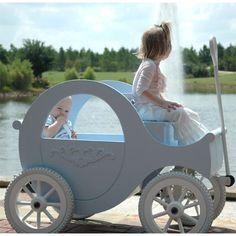 Aww....Sleeping Beauty Blue Princess Wagon    no dumbass thats cinderella not sleeping beauty get ur disney right god
