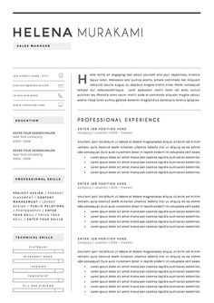 Resume Template Cv Professional Free Cover Letter By Chedonresume