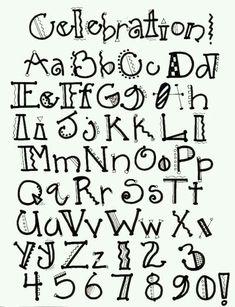 Lettering typeface font