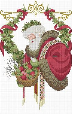 Santa Claus [Pattern / Chart] [Christmas - Cross Stitch]