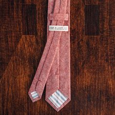 Fancy | NEW Red Chambray Skinny Tie