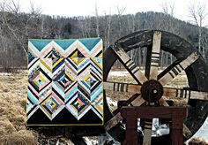 A Diamond Strings Quilt in Gramercy : :