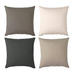 IKEA - SINNERLIG, Housse de coussin, Facile de retirer la housse grâce à la fermeture à glissière.