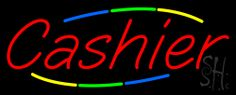 Multi Colored Cashier Neon Sign 13 Tall x 32 Wide x 3 Deep, is 100% Handcrafted with Real Glass Tube Neon Sign. !!! Made in USA !!!  Colors on the sign are Blue, Green, Yellow and Red. Multi Colored Cashier Neon Sign is high impact, eye catching, real glass tube neon sign. This characteristic glow can attract customers like nothing else, virtually burning your identity into the minds of potential and future customers.