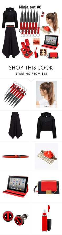 """Ninja set #8"" by firetiger-tora ❤ liked on Polyvore featuring NIKE, Chloé, Haider Ackermann, Natico, Mulberry, Marvel, MAC Cosmetics, Disney, japan and ninja"