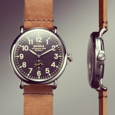 Love this watch from Shinola in Detroit.  Really cool project.