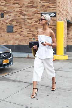 whiteout. #VanessaHong looking fab in NYC. #TheHautePursuit