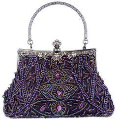 Exquisite Purple Seed Bead Sequined Leaf Evening Handbag, Clasp Purse Clutch w/Hidden Handle MG Collection, http://www.amazon.com/dp/B0072O7GV8/ref=cm_sw_r_pi_dp_Cjjdrb1PVXFGJ