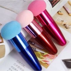 Red concealer/ foundation sponge/ blender New. Price is for one sponge Makeup Brushes & Tools Foundation Sponge, Foundation Routine, How To Apply Foundation, Foundation Brush, Makeup Foundation, Make Makeup, Makeup Brush Set, Red Makeup, Make Up Brush