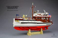 "This is Classic Yacht ""Vagabond"" created by Markus Ronge, experienced MOCer. Lego Boat, Lego Gifts, Lego Ship, Lego Builder, Lake Union, Classic Yachts, Lego Photography, Tug Boats, Lego Creator"