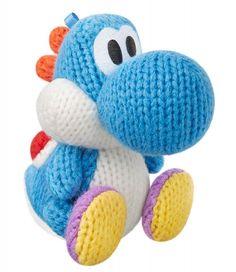 amiibo Nintendo statue figure Yoshi Wooly World Japan Blue 3DS WiiU NES NFC New #Nintendo