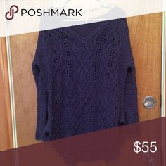 Free people knit sweater Purple, knit, only worn a handful of times! Free People Sweaters