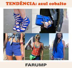 O azul cobalto é tendência nas ruas pelo mundo. invista nessa cor!