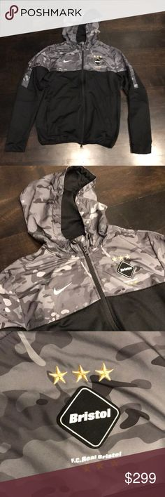 Nike F.C. Real Bristol Camo Men s Jacket The Nike F.C. Real Bristol Sweat  Men s Hoodie is part of the collaboration series between Nike and Hirofumi  ... 1ef46c05d5d